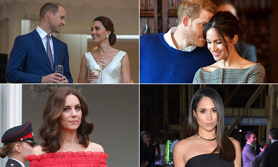 Date night hairstyles: Kate Middleton and Meghan Markle signature ...