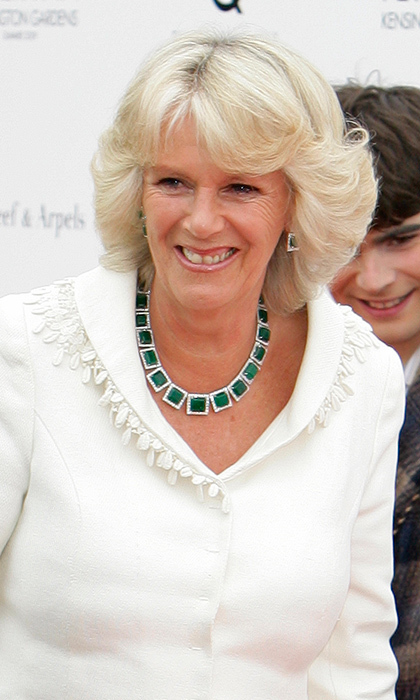 Square-cut emerald necklace