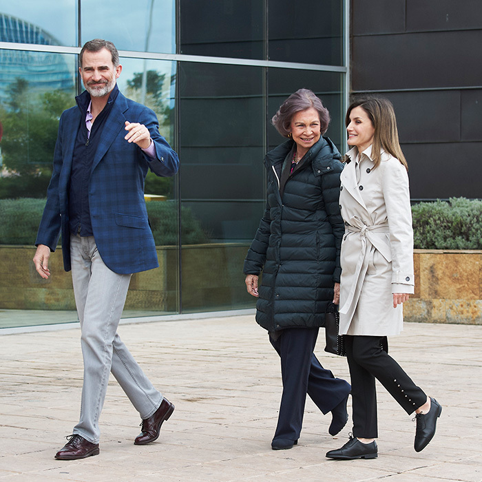 After video of their tense exchange on Easter went viral, Spain's Queen Mother, Queen Sofia and daughter-in-law Queen Letizia showed they are back to being BFFs on April 7. The two royals joined Sofia's son King Felipe VI to visit his father King Juan Carlos at La Moraleja Hospital after he was admitted for knee surgery.