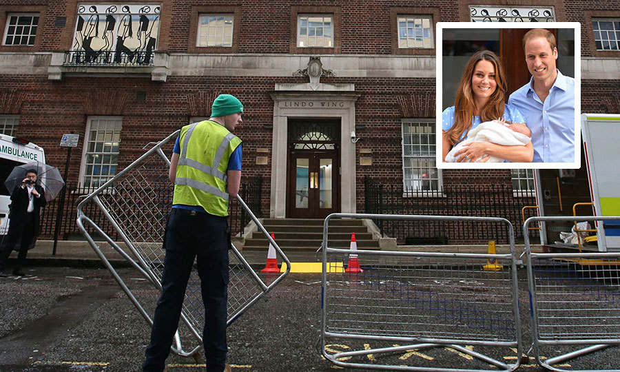 The great Kate wait for Royal Baby #3 has commenced! Workers set up crowd barriers outside the private Lindo Wing of St Mary's Hospital, in central London, where Catherine, the Duchess of Cambridge is expected to give birth soon. The baby, a younger sibling for Prince George and Princess Charlotte, is due this month. 