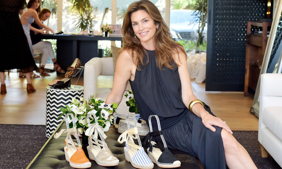 Cindy Crawford and Meghan Markle's favorite-footwear designer Sarah Flint hosted an invitation-only Shopping Salon in Beverly Hills where guests were able to browse her latest collection.