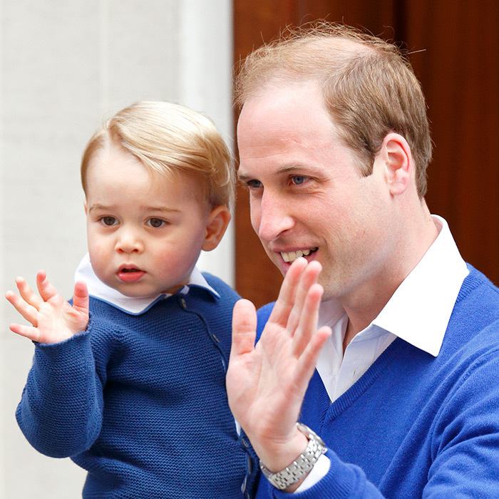 One of the sweetest moments of the day was when Prince George arrived at the Lindo Wing to meet his baby sister for the very first time. Shortly after 4pm, the little royal arrived with his proud father Prince William to be introduced to the newborn Princess of Cambridge.