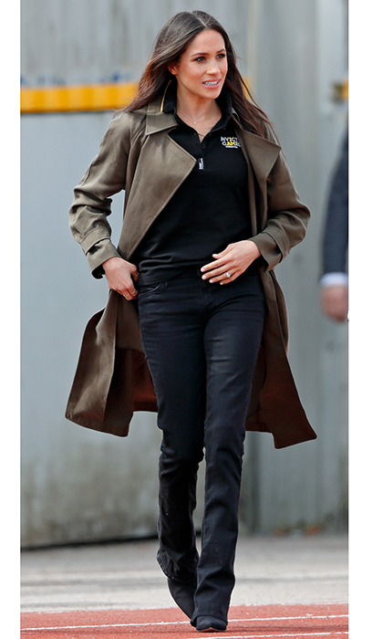 Meghan Markle is still a month away from becoming a royal, but we're wondering if her style influence is already being felt! Prince Harry's fiancé is fond of wearing pants – here she wore boot cut jeans as she joined her future husband at an Invictus event in Bath, England on April 6 – and there have been plenty of royal ladies following suit this month. 