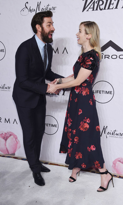 Power couple! Emily Blunt had the support of her husband John Krasinski at Variety's Power of Women event in NYC. The <i>Mary Poppins Returns</i> star, who looked pretty in a floral frock, was honored for her work with the nonprofit Malala Fund. 