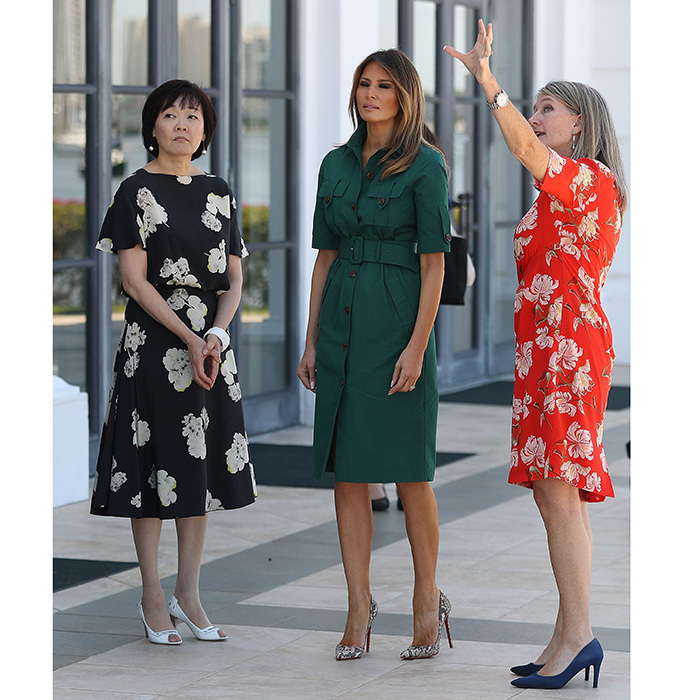 Alaia Azzedine Dresses >> Melania Trump style: See the first lady's fashionable looks of 2018 - HELLO! US