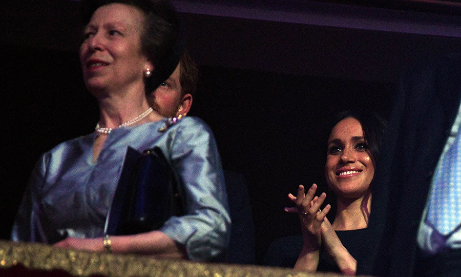 Seated behind the Queen's only daughter Princess Anne, Meghan was clearly having a good time during the outing with her soon-to-be in-laws.