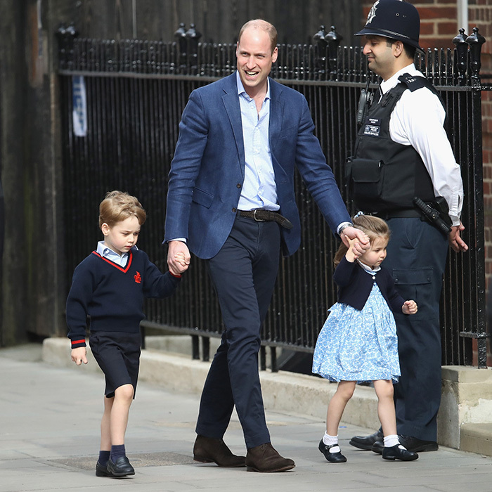 Earlier, Prince William had left the hospital only to return with Prince George and Princess Charlotte so they could meet their little brother.