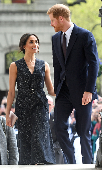 Find someone who looks at you the way Meghan looks at Harry! The couple arrived hand in hand to a special memorial service celebrating the life and legacy of Stephen Lawrence on April 23.