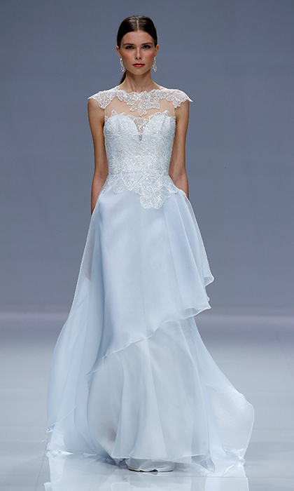 Think Pink Or Something Blue The Prettiest Colored Wedding Dresses From Barcelona Bridal Week