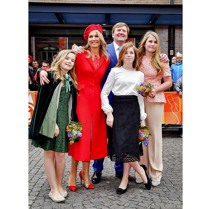 Fourteen-year-old Princess Amalia, right, was joined by her whole family – dad King Willem-Alexander, mom Queen Maxima, and sisters Princesses Alexia and Ariane – for the outing, a celebration of the King's birthday. 