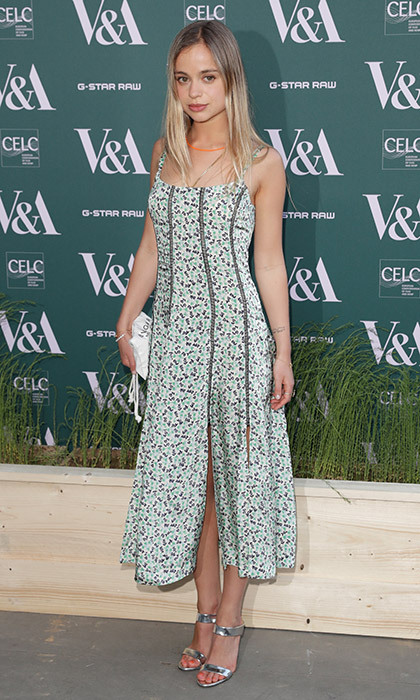 William and Harry's royal cousin Lady Amelia Windsor looked ready for spring in a floral dress and silver shoes at the the Fashioned From Nature VIP preview at The V&A museum in London.