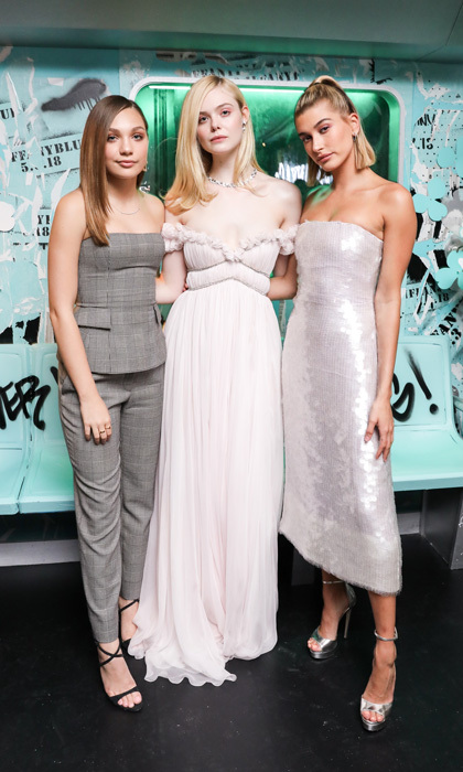 Maddie Ziegler, Elle Fanning and Hailey Baldwin were stylin' starlets at the Tiffany & Co. launch of their latest collection Paper Flowers in NYC.