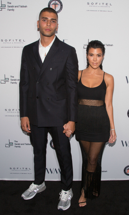 Date night! Kourtney Kardashian stepped out with her man Younes Bendjima for The Syrian American Medical Society hosts the Voices in Displacement Gala at Riviera 31 at Sofitel in L.A. on May 4. The reality star showed off her tight tummy in a sleek black number.