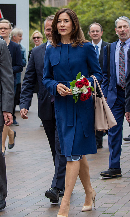 It was back to school for Crown Princess Mary as she toured the campus of the University of Washington in Seattle during the launch of the new cultural exchange between Denmark and the United States. 