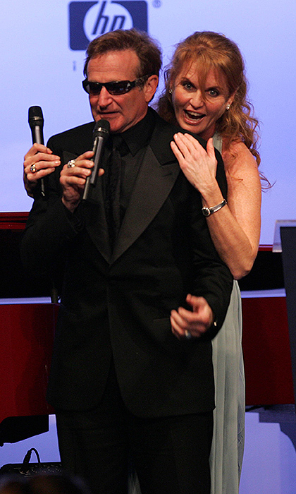 What a moment: At amfAR's Cinema Against AIDS Benefit in 2006, Sarah, Duchess of York shared a hilarious moment with late comedian Robin Williams.