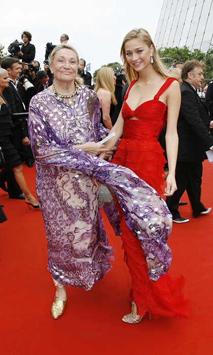 Future Monaco royal Beatrice Borromeo accompanied her beautiful grandmother Marta Marzotto at the screening of 'Babel' at the Palais des Festivals in 2006.