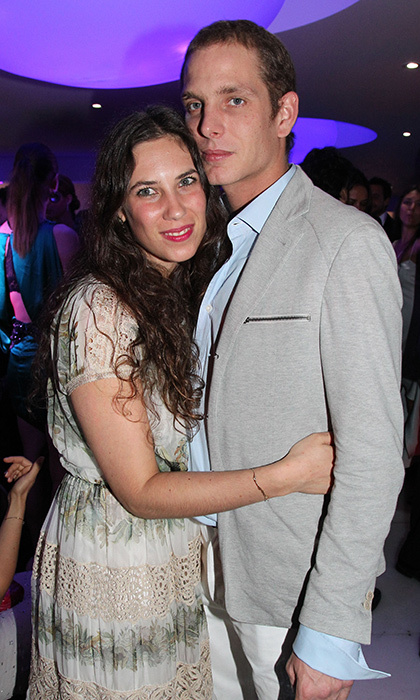 Royal couple Andrea and Tatiana Casiraghi made it a date night at the Grisogono Glam Extravaganza at Hotel Du Cap Eden-Roc in 2012.