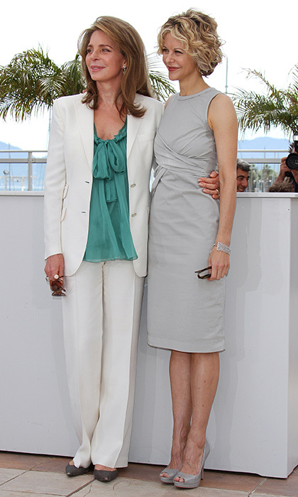 Queen Noor of Jordan teamed up with Meg Ryan at the the 'Countdown to Zero' photo call during the 63rd Annual International Cannes Film Festival in 2010.