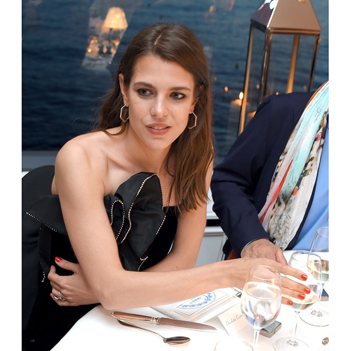 Charlotte Casiraghi was a guest at the Vanity Fair and HBO Dinner celebrating the Cannes Film Festival at Hotel du Cap-Eden-Roc in 2017. 