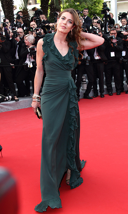 Charlotte Casiraghi showed that she has inherited grandmother Grace Kelly's red carpet charisma at the 'Madagascar 3: Europe's Most Wanted' premiere during the 65th Annual Cannes Film Festival at Palais des Festivals in 2012.