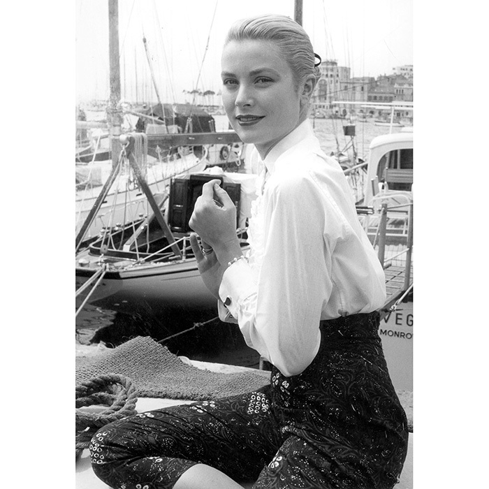 Before she married Prince Rainier and became Princess Grace, film star Grace Kelly – Charlotte Casiraghi's grandmother – took in the scene at Cannes in 1955. 