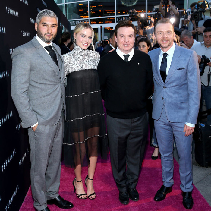 Director Vaughn Stein joined Margot Robbie, Mike Myers and Simon Pegg at the premiere Of RLJE Films' <i>Terminal</i> at ArcLight Cinemas in L.A.