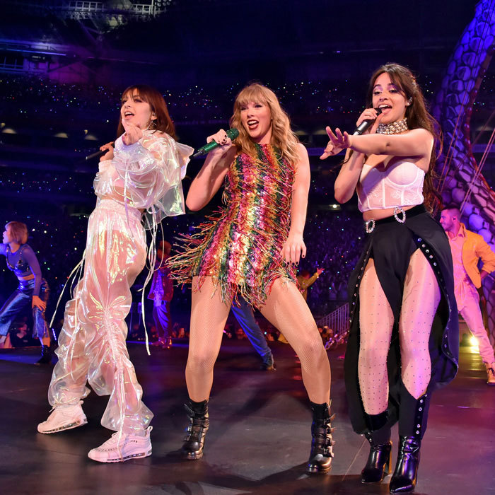 Taylor Swift kicked off her <i>Reputation</i> tour in Glendale, Arizona with Charlie XCX and Camila Cabello. The <i>Shake It Off</i> singer had her opening acts join her for the hit song as her boyfriend Joe Alwyn was front and center. Fans even caught her giving him a wink while on stage.
