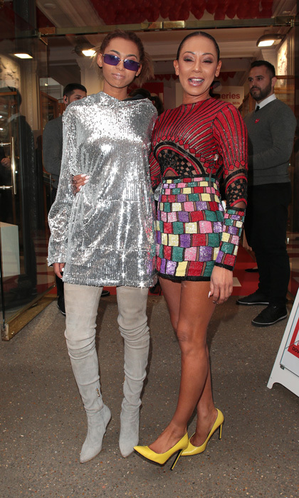 Mel B and her daughter Phoenix made it a fashionable night out in London at HELLO! Magazine's 30th celebration in London at the Dover Street Market.