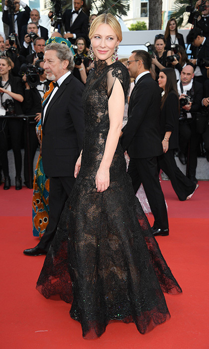 "Cate Blanchett's stunning black Armani lace gown on the <i>Everybody Knows</i> red carpet may look familiar. The actress first wore it to the 2016 Golden Globes and brought it to Cannes in support of Livia Firth's Green Carpet Challenge (or GCC). ""From couture to T-shirts, landfills are full of garments that have been unnecessarily discarded,"" she said. ""Particularly in today's climate, it seems willful and ridiculous that such garments are not cherished and re-worn for a lifetime.""