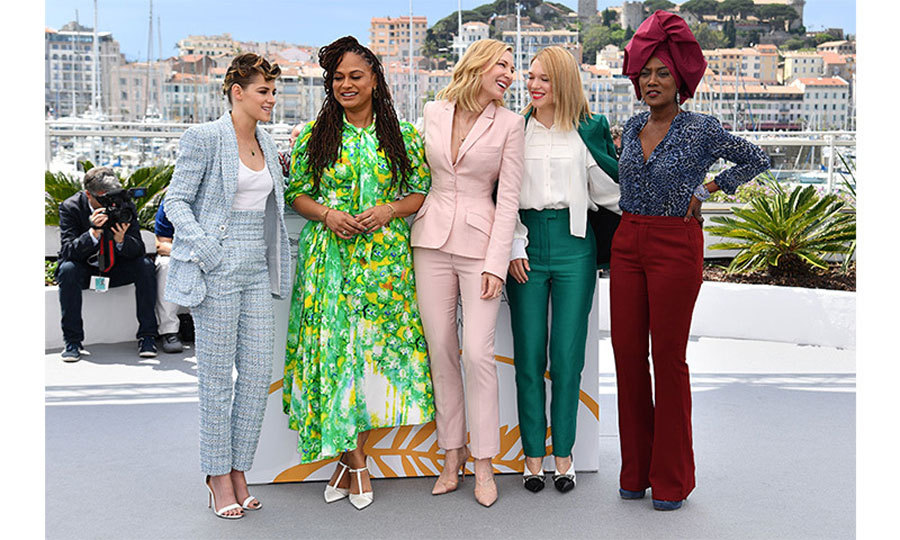 Power and style! The female members of the 2018 Cannes jury were dressed to impress on the first day of the festival. From left, American actress Kristen Stewart, American filmmaker Ava DuVernay, Australian actress Cate Blanchett, French actress Lea Seydoux and Burundian singer Khadja Nin.
