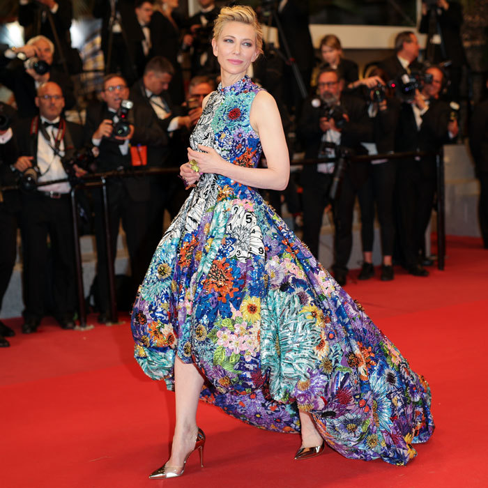 Jury president Cate Blanchett brought the garden to the <i>Cold War</i> carpet in her Mary Katrantzou gown.