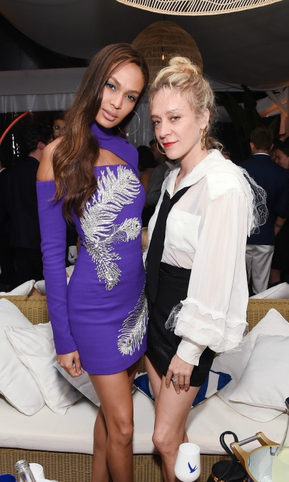 Joan Smalls and Chloë Sevigny joined other stars in toasting to iconic moments in film during a Grey Goose sponsored bash at Cannes on May 11. Both ladies put on a leggy display in their respective ensembles.