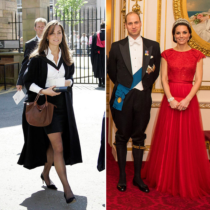 As Meghan Markle prepares for her royal wedding with Prince Harry on May 19, the former <I>Suits</I> star has swapped her an ultra-glam red carpet looks from a few years ago to a rather more demure wardrobe of wide-legged trousers, luxurious wrap coats, bespoke hats and tailored skirt suits. In honor of Meghan's royal style evolution, we're taking a look at other women who've left their previous lives – and wardrobes – behind for life in the palace.