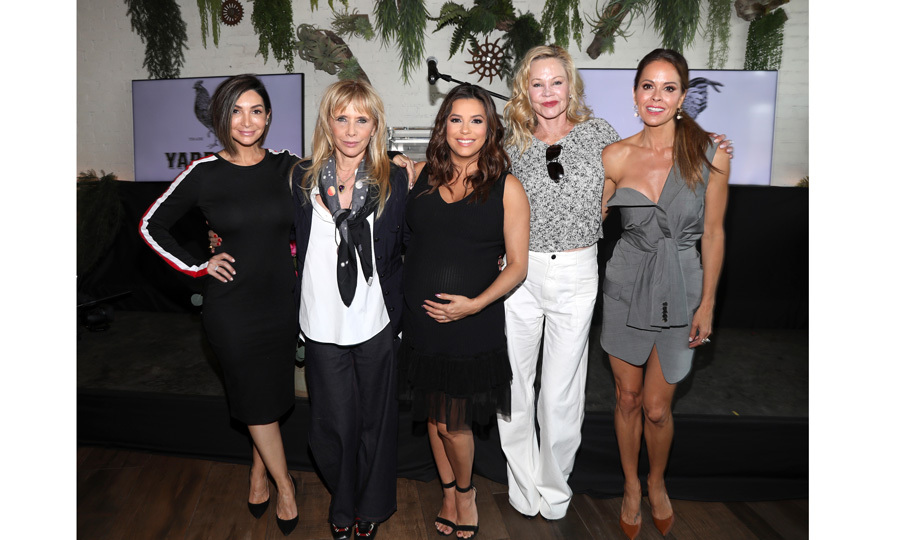 Courtney Lopez, Patricia Arquette, Eva Longoria, Melanie Griffith and Brooke Burke attended the Global Gift Foundation USA Women's Empowerment Luncheon hosted by the mommy-to-be at Yardbird Southern Table & Bar on May 10 in L.A.  
