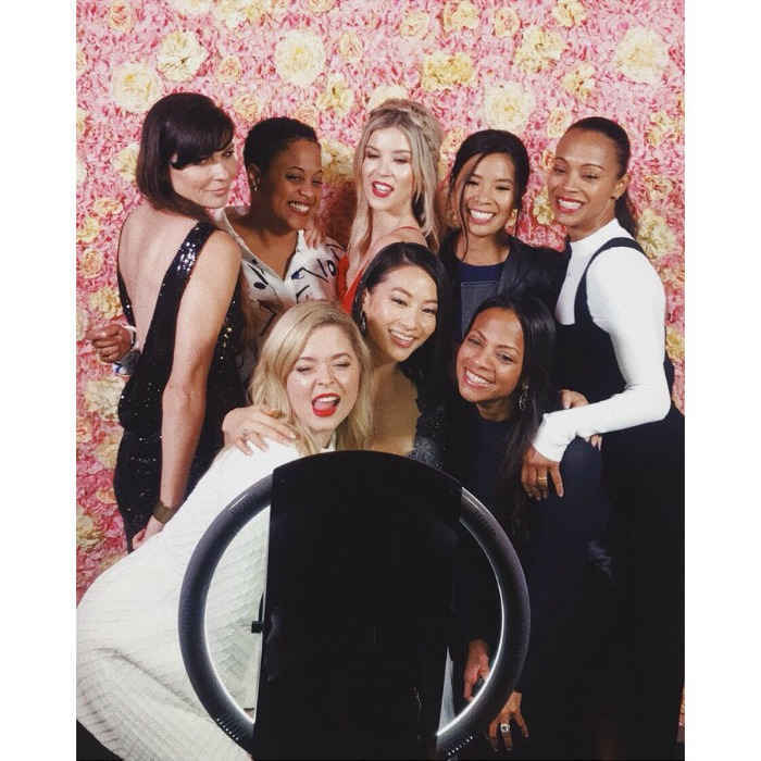"Zoe Saldana and the cast of <i>The Honor List</i> stepped out at the film's premiere in London on May 10. The actress shared some photo booth fun on her Instagram, writing: ""Congratulations to the cast and crew of @honorlistmovie! Beautiful film - so proud of you"".