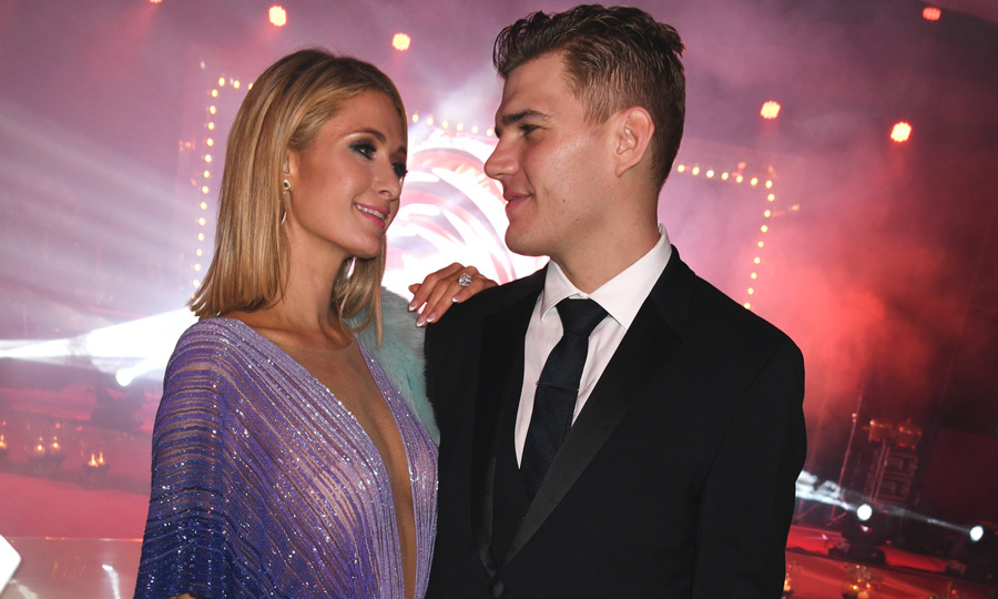 Paris Hilton and Chris Zylka had the look of love during the de Grisogono party.
