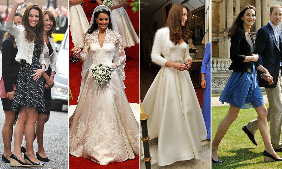 Kate Middleton Royal Wedding Style Her Looks For The Night Before