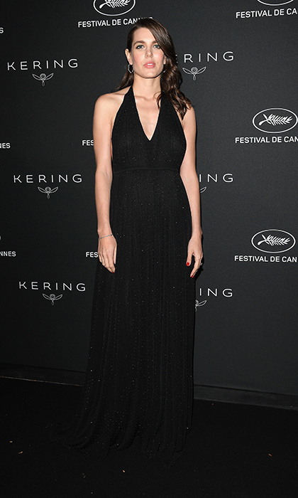 Charlotte Casiraghi made another glamorous appearance at Cannes, wearing one of her signature black ensembles at the Women in Motion Awards Dinner presented by Kering.