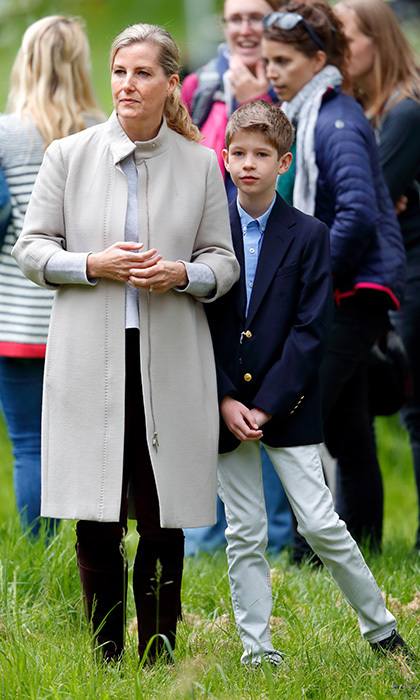 Sophie, the Countess of Wessex and her son James, Viscount Severn had their eyes on the action during day 4 of the Royal Windsor Horse Show.