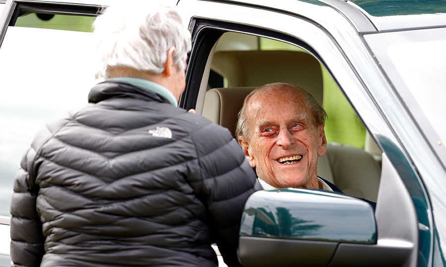 Prince Philip, 96, made a return to the spotlight in high spirits, demonstrating he has recovered from his April hip surgery. He was spotted in his Land Rover at the Royal Windsor Horse show on May 13.