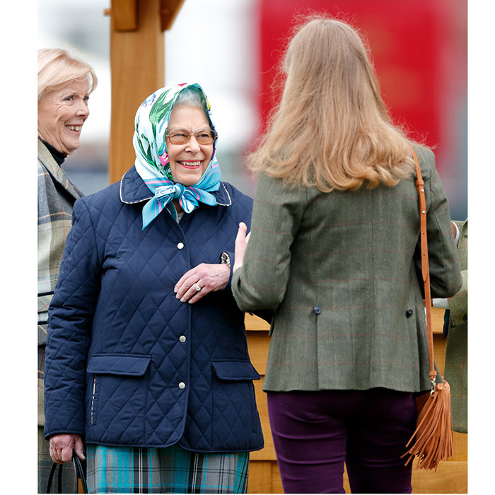 Queen Elizabeth II shared a laugh with granddaughter Lady Louise Windsor at the Royal Windsor Horse Show in Home Park. This year marks the 75th Anniversary of the equestrian extravaganza. 