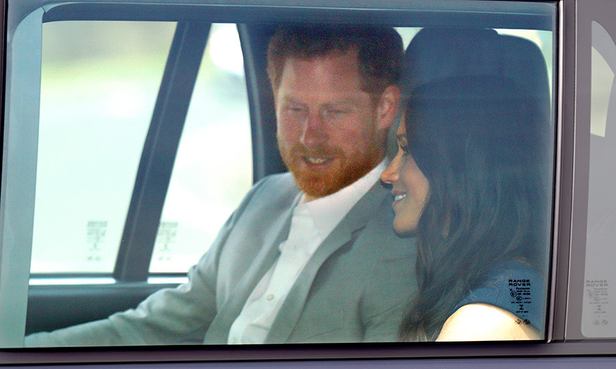 It's almost time! On the afternoon of May 18, Prince Harry and Meghan Markle arrived at Windsor Castle, where they would wed at St George's Chapel, on the eve of their nuptials. 