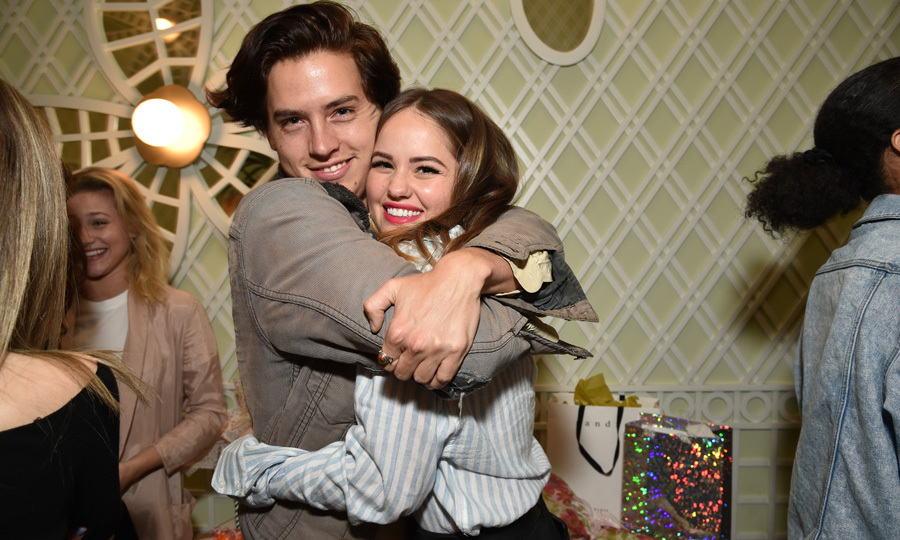 Debby Ryan's good friend Cole Sprouse celebrated her 25th birthday at Ladurée in Beverly Hills. The actress, who kept her look casual in a striped shirt from Aerie, kept on theme with the restaurant's Parisian feel with a Marie Antoinette cake.