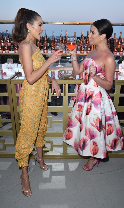 Olivia Culpo and Lea Michele toasted to the upcoming summer season at the Kim Crawford Wines Sip into Summer Rosé soiree in L.A.