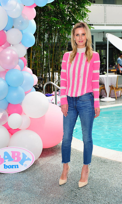 "Nicky Hilton, who is a mom to two daughters, helped kick off the launch of the Baby Born ""Mommy, Look I can Swim!"" Doll at the Avalon Hotel in Beverly Hills. 