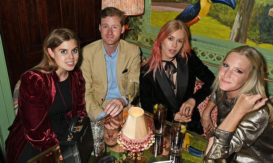 Princess Beatrice of York joined friends Tom Naylor-Leyland, Mary Charteris and Alice Naylor-Leyland for a night out at the Annabel's x Dior dinner in London on May 21. 
