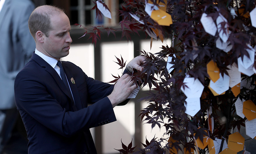 Meanwhile, Prince William, Duke of Cambridge placed a message on a Tree of Hope after a service of commemoration for the victims of last year's Manchester Arena terrorist attack. Twenty-two people were killed and hundreds injured after a terrorist detonated a bomb at the end of an Ariana Grande concert at the venue. 
