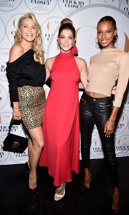 We'd love to shop their closets! Christie Brinkley, Ashley Greene and Jasmine Tookes were extra stylish at the Click My Closet launch, a new digital series which goes inside the homes of celebrities, in NYC.