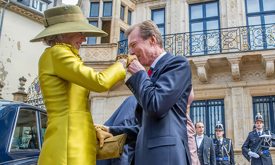 Sixty-three-year-old Grand Duke Henri, who has reigned since October 2000, kissed Queen Maxima's hand when the Dutch royals arrived.