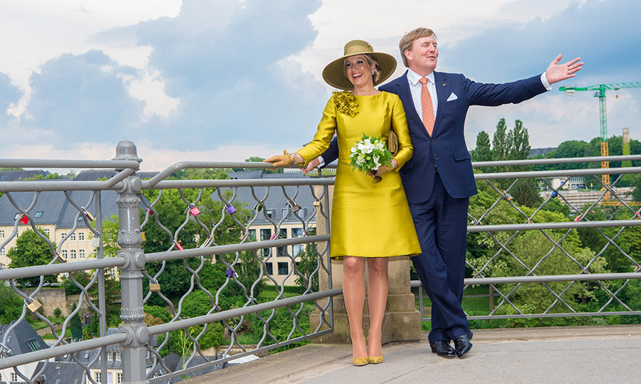The Luxembourg royals gave King Willem Alexander and Queen Maxima a tour of the local sites and scenery – including the amazing views – on the first morning of the visit. 